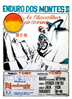 Cartaz do 3º Enduro dos Montes, em 1985