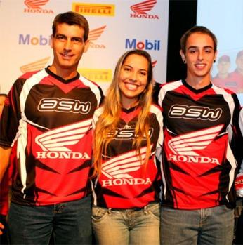 """Sandro Hoffmann, Sabrina Katana e Ronald Santi são os pilotos da Equipe Satélite """"ASW Enduro Team"""""""