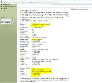 Registro do Site Nautique, em nome de Paulo Izzo - Clique para Ampliar