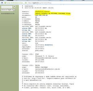 Registro do site Thefactor - Carlãozinho Coachmann - Clique para Ampliar