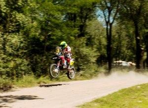 Jean Azevedo, piloto da Honda Racing Rally Team, na etapa entre Rosário e San Luis (ARG) do Dakar 2014 - Crédito: Victor Eleuterio/VIPCOMM