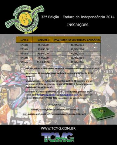 Enduro da Independência 2014 - Inscrições