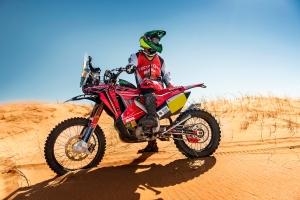 """Jean Azevedo disputará pela 17ª vez o Dakar:  """"Sem dúvida as etapas maratona serão as mais perigosas, mas temos que ter atenção em todas as especiais. É necessário ter um cuidado com a CRF 450 RALLY durante todo o rally, para que não tenhamos surpresas desagradáveis"""",  afirma o pilloto da equipe Honda South America Rally Team"""
