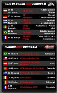 O Brasil está na rota dos maiores eventos do Mundo. Fevereiro tem SuperEnduro em BH e em abril será a vez da etapa de abertura do Campeonato Mundial de Enduro
