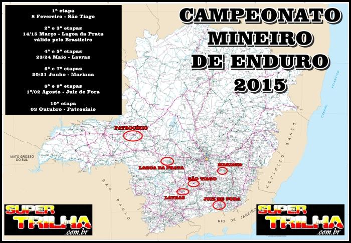 CAMPEONATO MINEIRO 2015 mapa