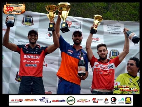 Rigor, Júlio e Ronald foram os melhores no 2° Desafio 3R Motos de Enduro - Crédito: Janjão Santiago
